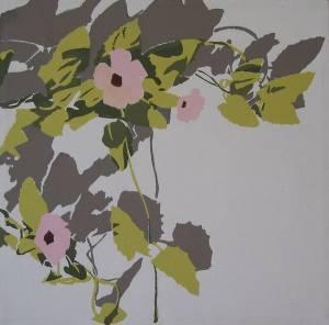 Black Eyed Susan Acrylic On Canvas 40x 40 Cm 2006